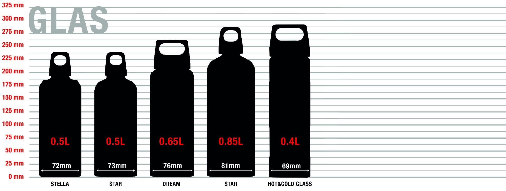 SIGG Glas Trinkflaschen